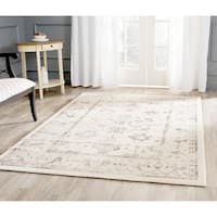 Safavieh Porcello Oriental Distressed Ivory/ Light Grey Rug - 5'3 x 7'7