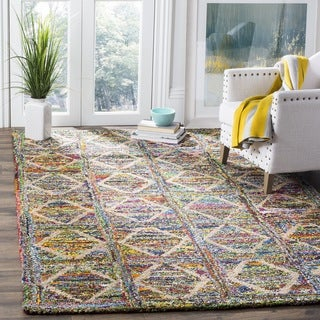 Safavieh Handmade Nantucket Modern Abstract Multicolored Cotton Rug (4' x 4' Square)