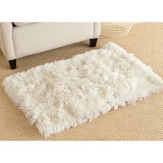 Safavieh Arctic Handmade White Shag Rug (2' x 3')