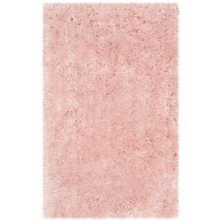 Safavieh Handmade Arctic Shag Pink Polyester Rug (2' x 3')