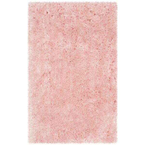 Safavieh Handmade Arctic Shag Pink Polyester Rug - 2' x 3'