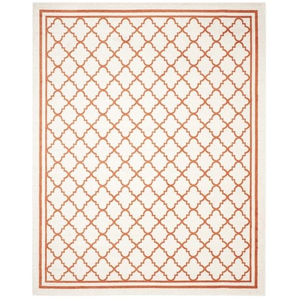 Safavieh Indoor/ Outdoor Amherst Beige/ Orange Rug - 9' x 12'