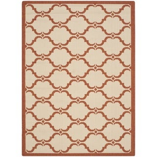 Safavieh Courtyard Moroccan Beige/ Terracotta Indoor/ Outdoor Rug (9' x 12')