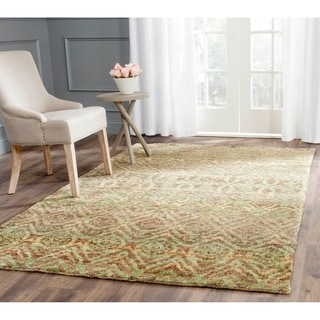 Safavieh Hand-knotted Bohemian Green/ Brown Jute Rug (8' x 10')