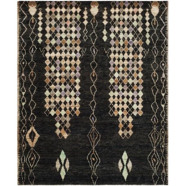 Safavieh Hand-knotted Bohemian Black/ Beige Jute Rug - 8' x 10'