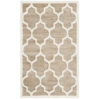 Safavieh Indoor/ Outdoor Amherst Wheat/ Beige Rug - 2'6 x 4'