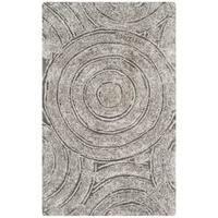 Safavieh Handmade South Beach Shag Silver Polyester Rug (3' x 5')