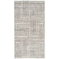 Safavieh Porcello Modern Geometric Light Grey/ Dark Grey Rug - 2'7 x 5'
