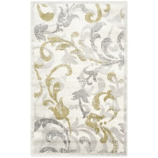 Safavieh Indoor/ Outdoor Amherst Ivory/ Light Grey Rug (3' x 5')