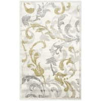 Safavieh Indoor/ Outdoor Amherst Ivory/ Light Grey Rug - 3' x 5'