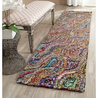 Safavieh Hand-Tufted Nantucket Multi Cotton Rug - 2'3 x 8'