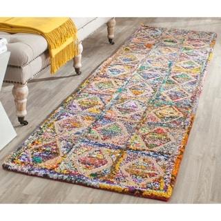 Safavieh Handmade Nantucket Modern Abstract Multicolored Cotton Runner Rug (2' 3 x 8')
