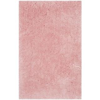 Safavieh Handmade Arctic Shag Pink Polyester Rug (3' x 5')