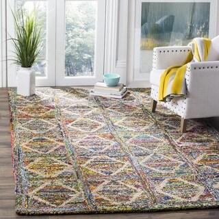 Safavieh Handmade Nantucket Modern Abstract Multicolored Cotton Rug (6' x 6' Square)