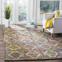 Safavieh Handmade Nantucket Modern Abstract Multicolored Cotton Rug - 6' Square