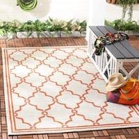 Safavieh Indoor/ Outdoor Amherst Beige/ Orange Rug - 6' x 9'