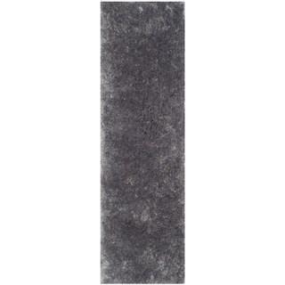 Safavieh Handmade Arctic Shag Grey Polyester Runner (2'3 x 8')