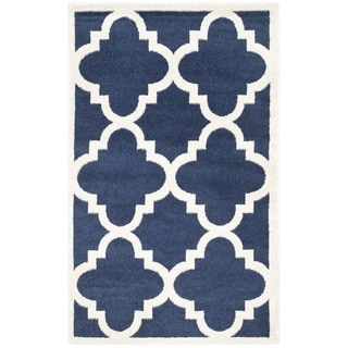 Safavieh Indoor/ Outdoor Amherst Navy/ Beige Rug (2'6 x 4')