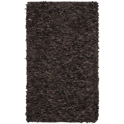 Safavieh Handmade Leather Shag Ceciel Modern Leather Rug