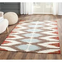 Safavieh Hand-woven Dhurries Multi Wool Rug - 4' x 6'