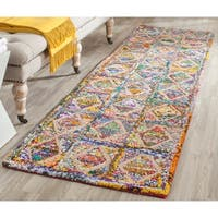 Safavieh Handmade Nantucket Modern Abstract Multicolored Cotton Runner Rug - 2' 3 x 9'