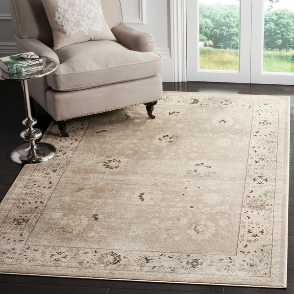 Safavieh Vintage Oriental Light Grey/ Ivory Distressed Rug - 9' x 12'
