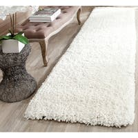 Safavieh Handmade Popcorn Shag Ivory Polyester Rug (2'3 x 9')
