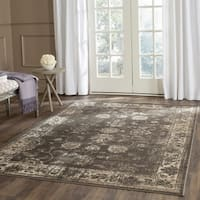 Safavieh Vintage Oriental Soft Anthracite Distressed Silky Viscose Rug - 6' Square