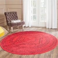 Safavieh Adirondack Vintage Red/ Black Rug - 8' Round