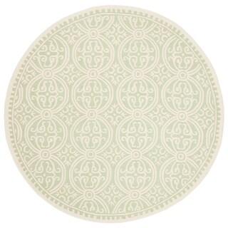 Safavieh Handmade Cambridge Moroccan Light Green/ Ivory Rug (8' Round)