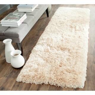 Safavieh Handmade Arctic Shag Beige Polyester Runner (2'3 x 8')