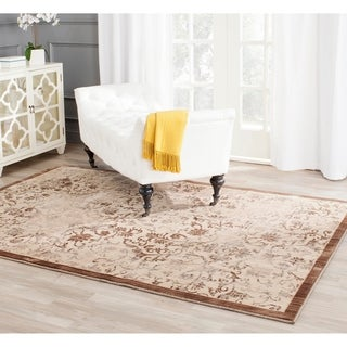 Safavieh Infinity Yellow/ Brown Polyester Rug (9' x 12')