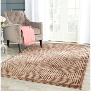 Safavieh Infinity Modern Brown/ Beige Polyester Rug (9' x 12')