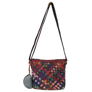 Amerileather 'Stella' Multicolored Leather Shoulder Bag
