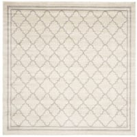 Safavieh Indoor/ Outdoor Amherst Beige/ Light Grey Rug - 7' Square