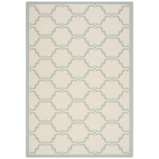 Safavieh Courtyard Moroccan Beige/ Aqua Indoor/ Outdoor Rug (5'3 x 7'7)