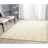 Safavieh Hand-hooked Newport Olive/ Light Blue Cotton Rug - 3'9 x 5'9