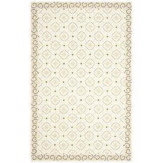 Safavieh Hand-hooked Newport Taupe/ Beige Cotton Rug (3'9 x 5'9)
