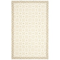 Safavieh Hand-hooked Newport Taupe/ Beige Cotton Rug - 3'9 x 5'9