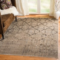 Safavieh Vintage Mouse Brown Damask Distressed Silky Viscose Rug (4' x 5'7)