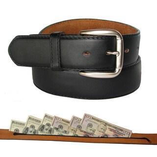 King Stallion Men's Leather Travelers Money Belt