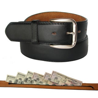 King Stallion Men's Travelers Leather Money Belt