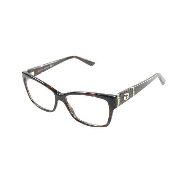 7fc7b2dda8e Shop Gucci Women s  GG 3559 TVD  Havana Eyeglasses - Free Shipping ...