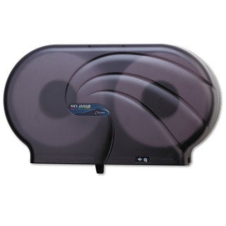 San Jamar Oceans Black Pearl Twin 9-inch Jumbo Toilet Tissue Dispenser
