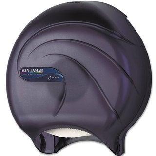 San Jamar Oceans Black Pearl Single 9-inch Jumbo Toilet Tissue Dispenser