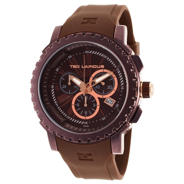 126bbf5f8624 Ted Lapidus Men's 5125405SM Chrono Brown Watch