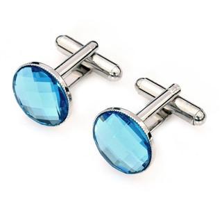 EJ Sutton Blue Crystal Cufflinks (Israel)