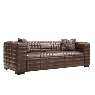 Maxton Brown Bonded Leather Sofa