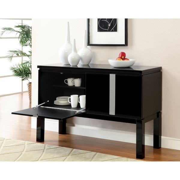 Furniture of America Reliza Glossy Dining Server