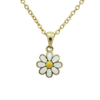 Junior Jewels Enamel Daisy Flower Pendant
